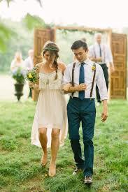 White High Low Boho Bridesmaid Dress For Autumn Weddings