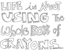Printable Quote Coloring Pages