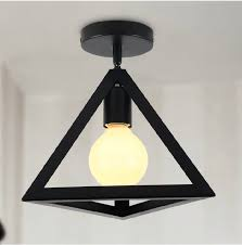 e27 metal industrial style black iron hanging ceiling ls living