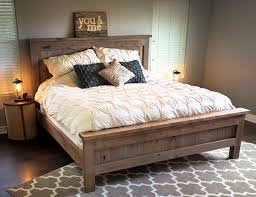 bed frames farmhouse style beds diy king size platform bed plans