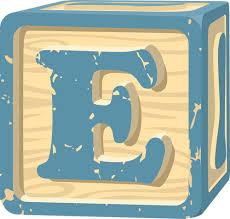Bunch Ideas E Letter Block Lovely Block Letter E