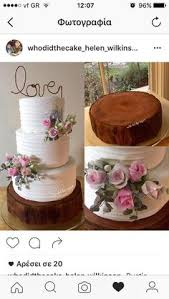 Rustic Cake Wedding Log Base By Helen Wilkinson Of Who Did The