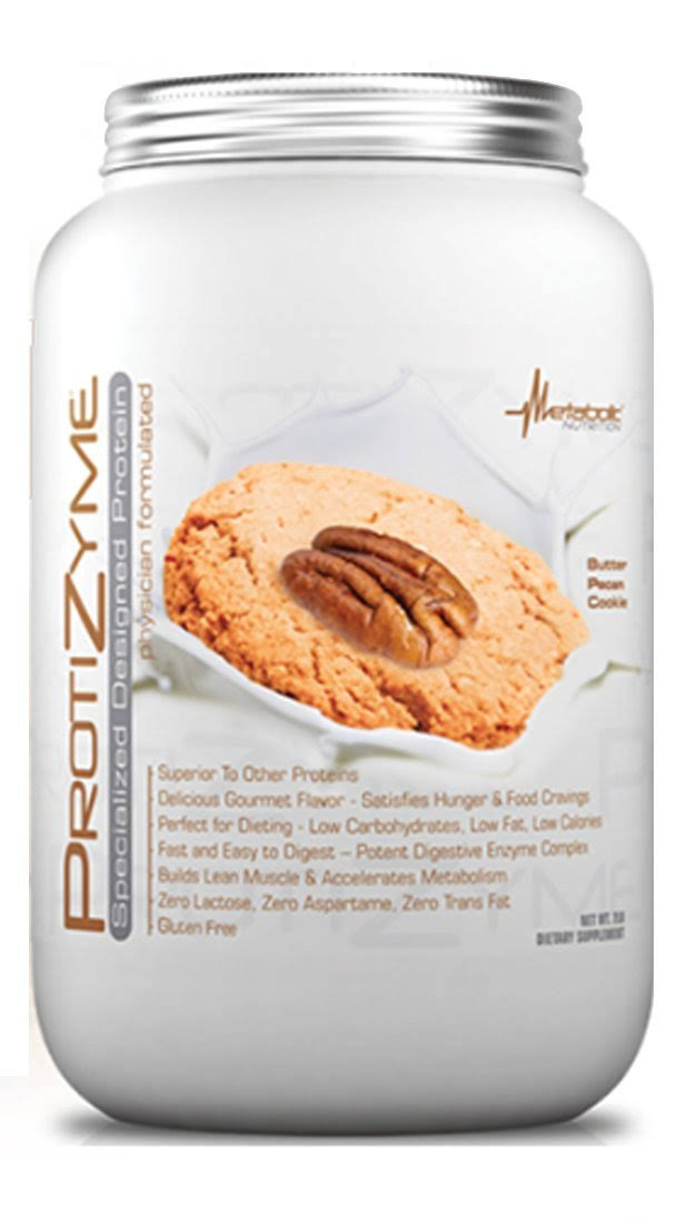 Metabolic Nutrition Protizyme Sport Supplement - 2lb, Butter Pecan Cookie