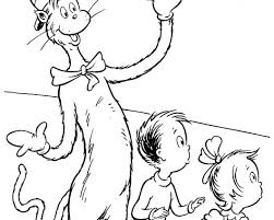 The Cat Hat Coloring Pages