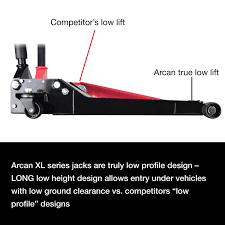 Northern Tool 3 Ton Floor Jack by Amazon Com Arcan Xl2t Black Low Profile Steel Service Jack 2