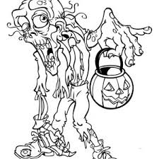 Halloween Scary Monster Coloring Page