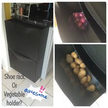 Pantry Cabinet Ikea Hack by Ikea Trones Shoe Rack Used As A Vegetable Caddy Everything Smart