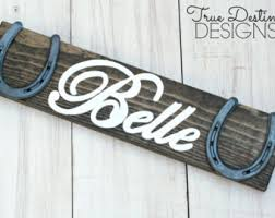 Personalized Wood Horseshoe Sign