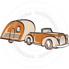 940x940 Cartoon Car With Camper Trailer Vector Illustration By Clip Art