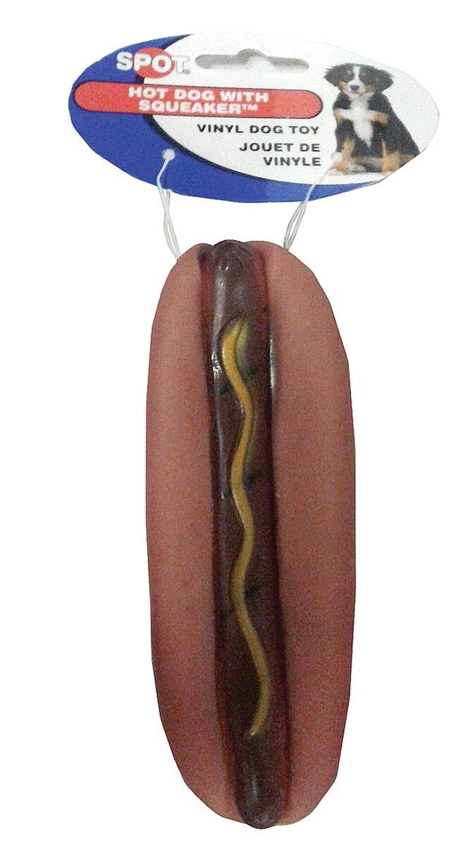 Ethical 5-Inch Vinyl Hot Dog with Squeaker Dog Toy