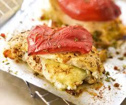 cuisiner les poivrons rouges recette italienne saltimbocca de poulet au fromage de chèvre et