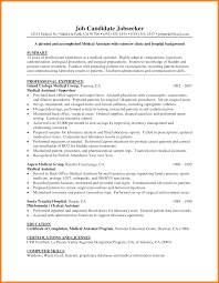 Medical Assistant Resume Sample - Example Document And Resume 89 Examples Of Rumes For Medical Assistant Resume 10 Description Resume Samples Cover Letter Medical Skills Pleasant How To Write A Assistant With Examples Experienced Support Mplates 2019 Free Summary Riez Sample Rumes Certified Example Inspirational Resumegetcom 50 And Templates Visualcv