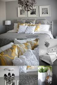 Yellow Gray White And Black Bedroom Guest