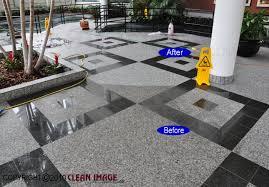 plain granite floor cleaning on refinishing and tile