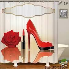 high heels lippen badezimmer duschvorhänge set bad wc vorhang wasserdicht duschvorhang badezimmer dekor vorhänge badzubehör bad vorhänge wohnkultur