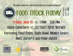 June Food Truck Friday @ Union Cemetery Historical Society, Kansas ... Kansas City Events Spotlight Making The Most Of Fall Dani Beyer Applebees Food Truck Home Missouri Menu Prices Friday The Dtown Shareholders Roasterie Brunch Is Back Milled Pizza Franchisee Uses Food Truck To Build Brand 6 Summer Spots Enjoy Trucks In Kc Custom And Trailer Useful Bbq Two North Trucks Maybe Not Ftland Wrap Booyah Rev2 Vehicle Wraps Blog Dtown Mothe Gregco Foods Roaming Hunger 25 Best Sarah Scoop