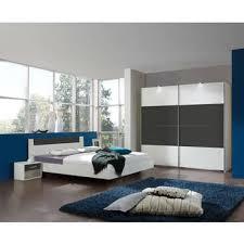 conforama chambre lit adulte 140x190 cm louna coloris gris blanc vente de lit adulte