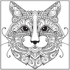 Impressive Inspiration Cat Coloring Pages For Adults With