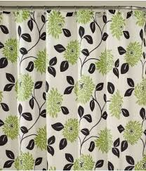 Black And White Flower Shower Curtain by Green And White Shower Curtain Home Design Ideas And Pictures