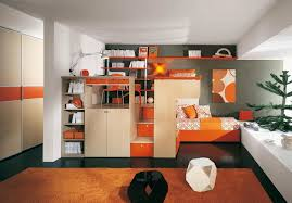 Unisex Childrens Bedroom Furniture Set Orange