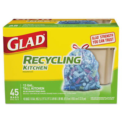 Glad Recycling Kitchen Trash Bags - 45 Bags