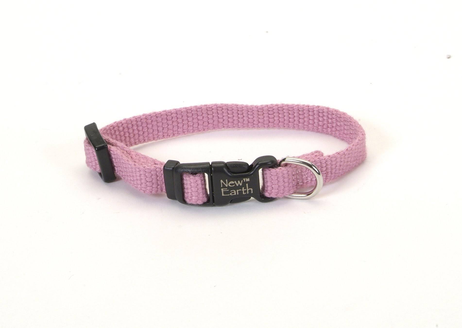 Earth Natural Soy Fiber Soft Comfortable Dog Collar Adjustable - Pink, X-Small