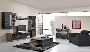 wohnzimmer komplett set d tinlot 5 teilig schwarz