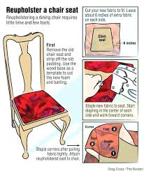How To Reupholster A Dining Room Chair Seat And Back Best Fabric For Chairs