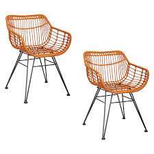 Gauri Indoor/Outdoor Dining Chair, Brown (Set Of 2) Cult Living Ladbroke Outdoor Ding Armchair Black Polywood Tek Memoir Chair Rjid Midcentury Modern Steel Patio Set Summer Classics Skye Side White Leather Chairs Contemporary Script 5piece Metal With Slatted Faux Wood And Stackable Modway On Sale Eei2259slvblk Shore Alinum Only Only 16930 At Fniture Warehouse Polywood Bayline Satin Allweather Plasticsling Arm In Poolside Shell Shell Collection Fueradentro Design Wicker