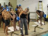 5 time olympic swimmer dara torres makes a splash at the bed stuy