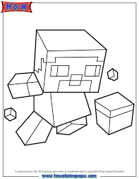 39 Steve Coloring Pages Sitting With Minecraft Weapon