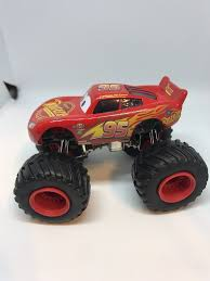 Disney Cars 1:55 Custom Monster Truck Lightning Mcqueen | Paulmartstore