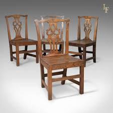 100 Dining Chairs Country English Style Set Of 4 Antique Oak Elm Kitchen