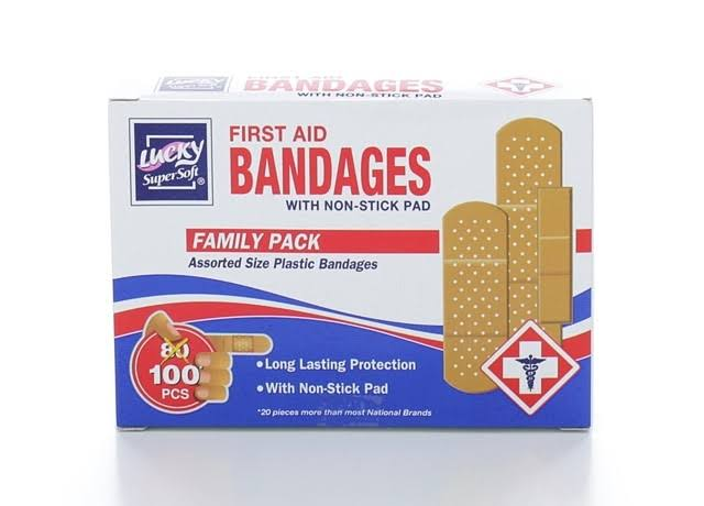 Lucky Super Soft First Aid Bandages - 100pcs