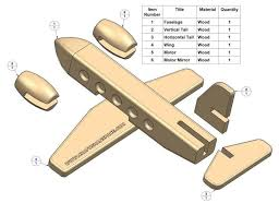 easy wood toy patterns passenger plane kids toy plan parts