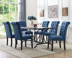 Brassex Inc. Soho 7-Piece Dining Set, Table + 6 Chairs, Blue   The ... Greek Style Blue Table And Chairs Kos Dodecanese Islands Shabby Chic Kitchen Table Chairs Blue Ding Http Outdoor Restaurant With And Yellow Crete Stock Photos 24x48 Activity Set Yuycx00132recttblueegg Shop The Pagosa Springs Patio Collection On Lowescom Tables Amusing Ding Set 7 Piece 4 Kids Playset Intraspace Little Tikes Bright N Bold Free Shipping Balcony High Cushions Fniture Rst Brands Sol 3piece Bistro Setopbs3solbl The