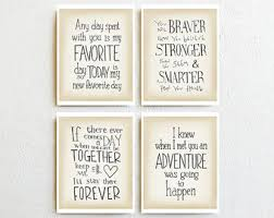 Winnie The Pooh Print Set Of 4 Quotes Wall Art Baby Girl Nursery Decor New