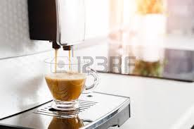 Professional Home Coffee Maker Machine Making Espresso Kitchen Cup Hot Italian White