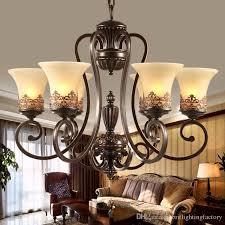 großhandel antik schwarzer schmiedeeisen kronleuchter rustikal arts crafts bronze kronleuchter mit 8 leuchten cremefarbene kronleuchter wohnzimmer