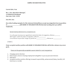 13 Employee Resignation Letter Templates – Free Sample Example Bunch