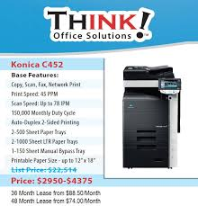 Konica Minolta Bizhub Color Copier C452 Denver THINK