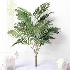 70cm große künstliche palme grün tropische pflanze zweig silk tuch blatt topf hotel möbel wohnzimmer büro dekoration