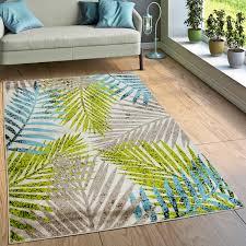 teppich wohnzimmer dschungel design braun
