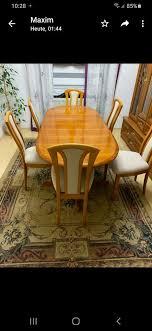 esszimmer tisch mit sechs stühle