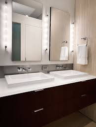 Industrial Modern Bathroom Mirrors by Industrial Vanity Light Bathroom Contemporary With Chrome Accents