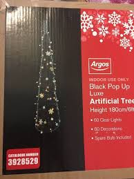 7ft Christmas Tree Argos by Pre Decorated Pop Up Christmas Tree Christmas Lights Decoration