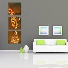 3 bild kombination dekoration wandbilder afrika natürliche tiere giraffe malerei das bild druck für wohnzimmer schlafzimmer