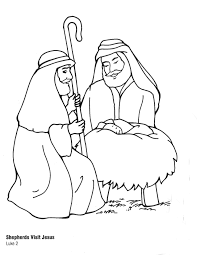 Coloring Pages Zacharias Elizabeth Mary Download