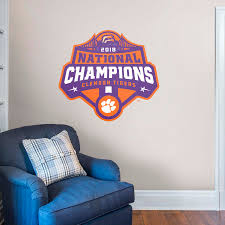 Clemson Tigers: 2018 Football Champions Logo - Giant Officially Licensed  Removable Wall Decal Ncaa Zero Gravity Clemson Orange Chair Black Tigers Recling Camp Folding Chairs College Covers Textilene Pine Rocking Replacement Sling With Pillow Pnic Time University Sports With Digital Logo Academy Lcc12331 Round Table 30in Oversized Gaming Brands Elite