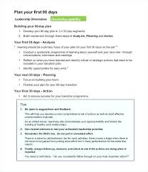 The First 90 Days Plan Template Also Example Of A To Prepare Astonishing 613